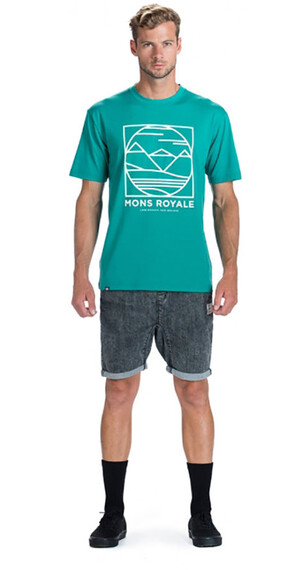 Mons Royale M's Classic Tee Bottle Green B